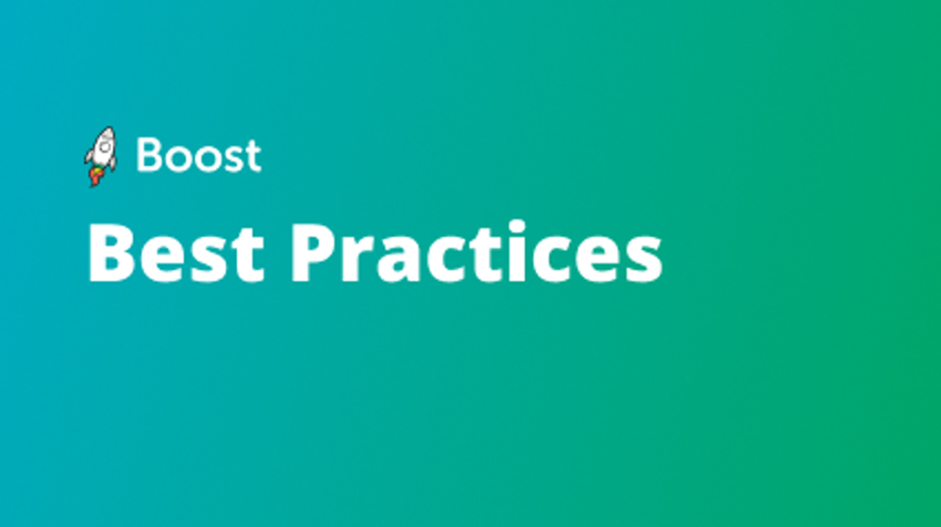 Boost Best Practices